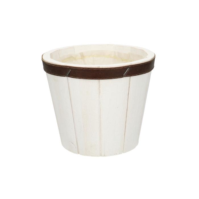 <h4>Hout Pot Suus+leer d14.5*12cm</h4>