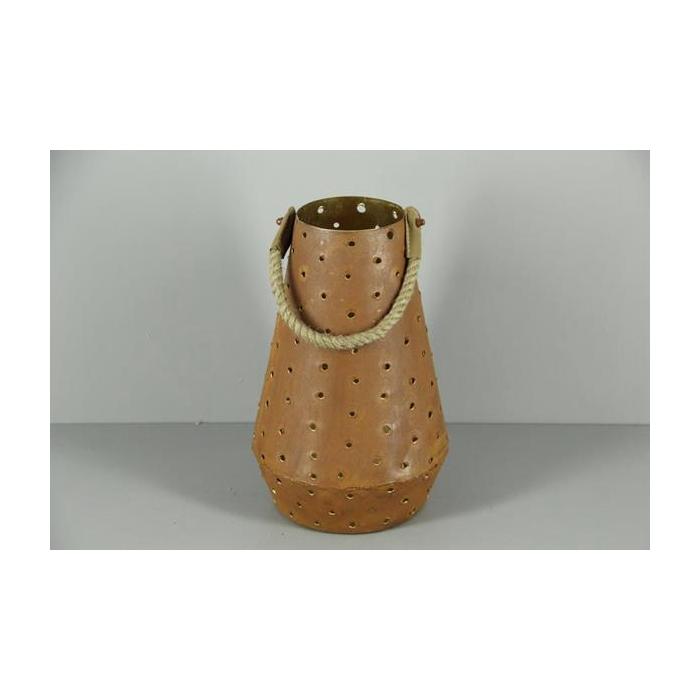 <h4>Lantern Mtl Cone Rust/gold 31</h4>