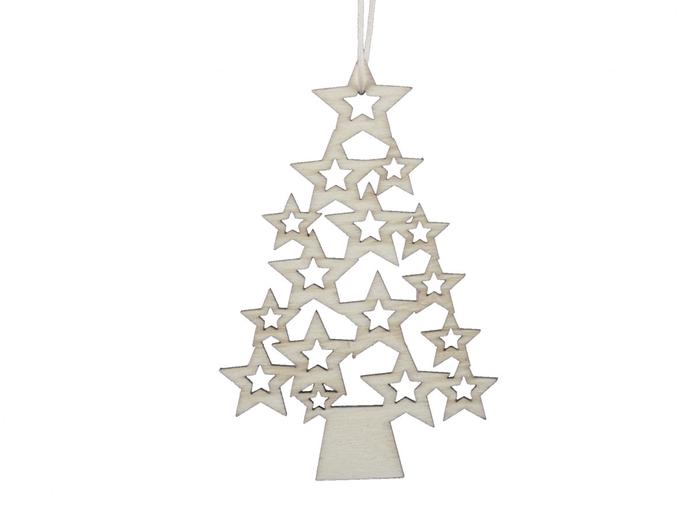 <h4>Kerst Hanger hout boom 10cm x5</h4>