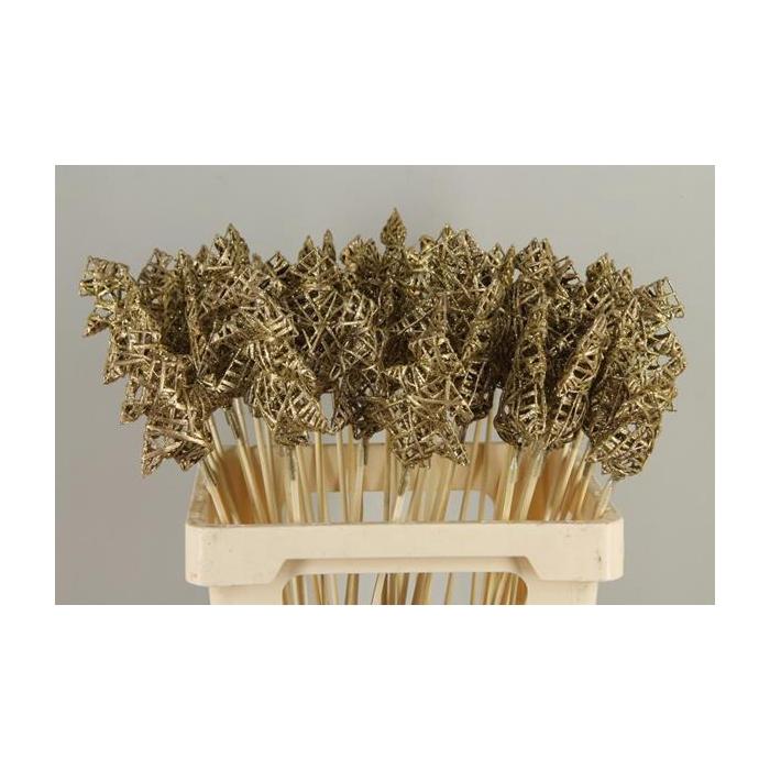 <h4>Stick Tree Wire 10cm Gold+glt</h4>