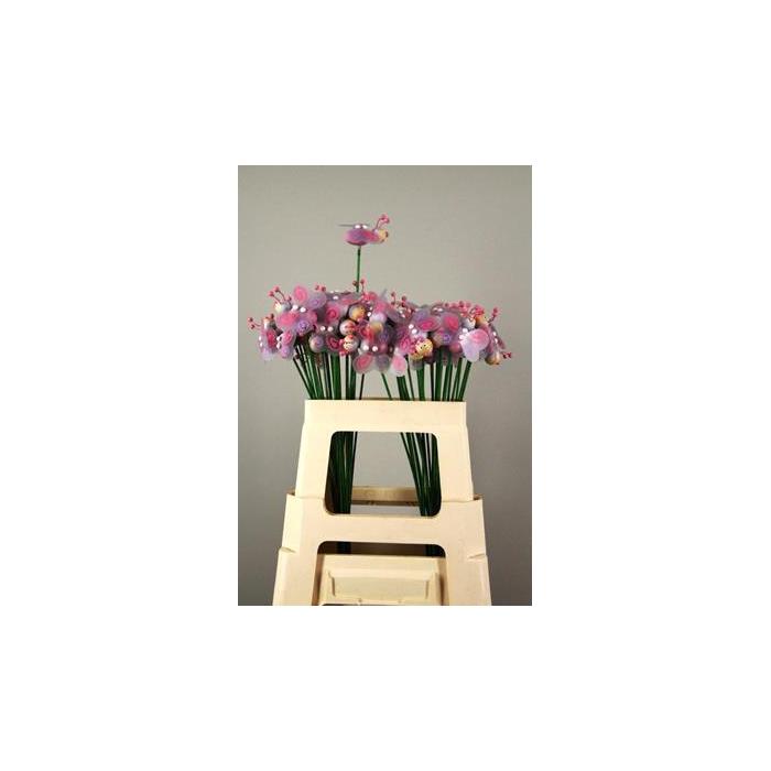 <h4>Stick Bee Wood Pink 6cm</h4>