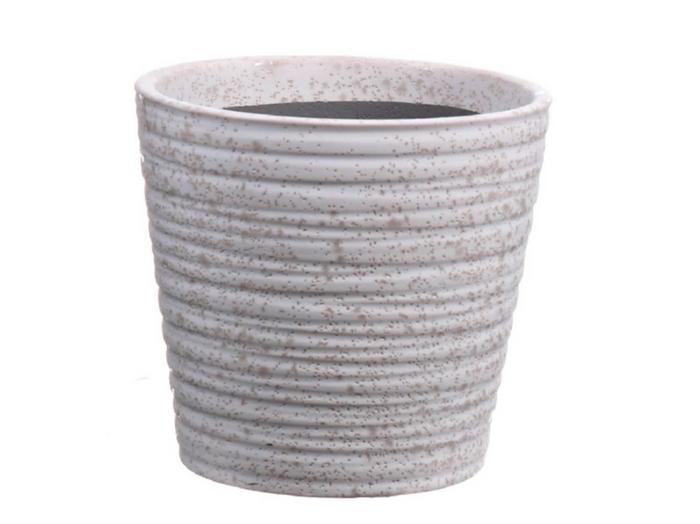 <h4>DF550080125 - Pot taper Tobias d10.8xh9.5 white</h4>