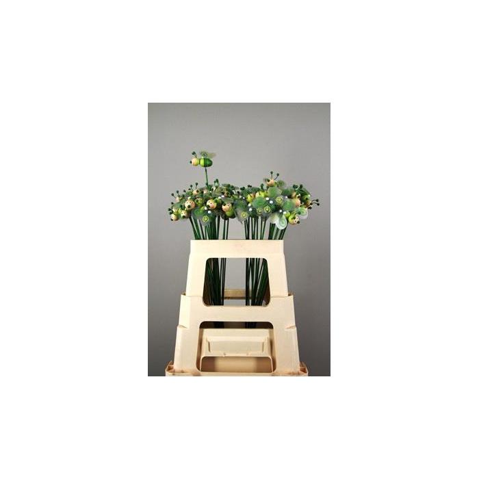 <h4>Stick Bee Wood Green 6cm</h4>