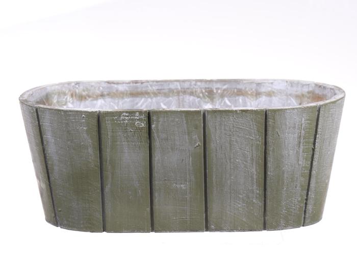 <h4>DF550090500 - Planter Arnelle 31x15.7xh12 green wash</h4>