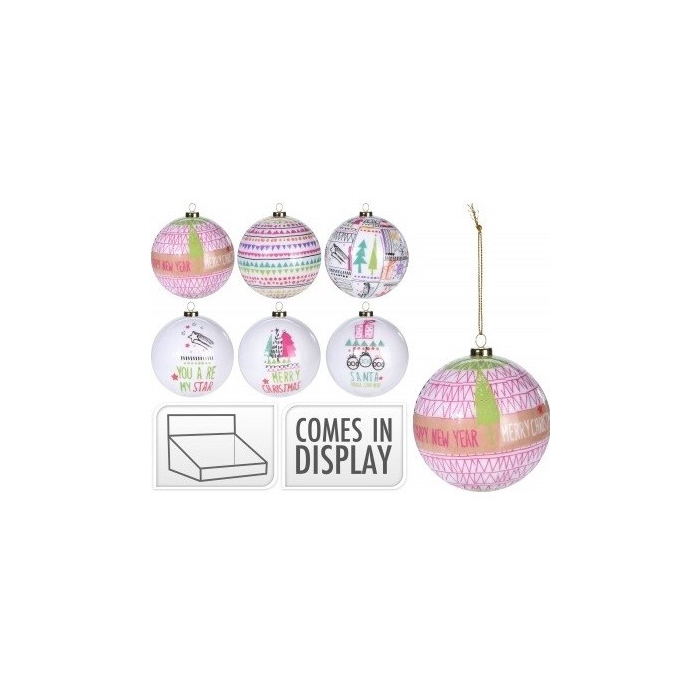 <h4>Christmas bauble Ball deco dessin d70cm ass</h4>