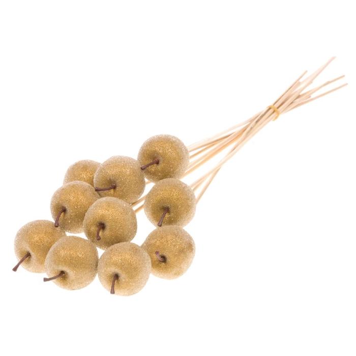 <h4>Apple sugar 5cm o/s 10pc gold</h4>