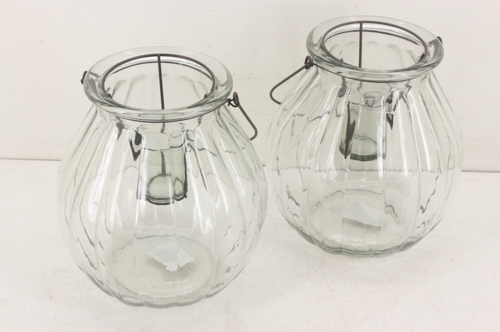 <h4>Deco. 37346 - Glas pumpkin lantaarn</h4>