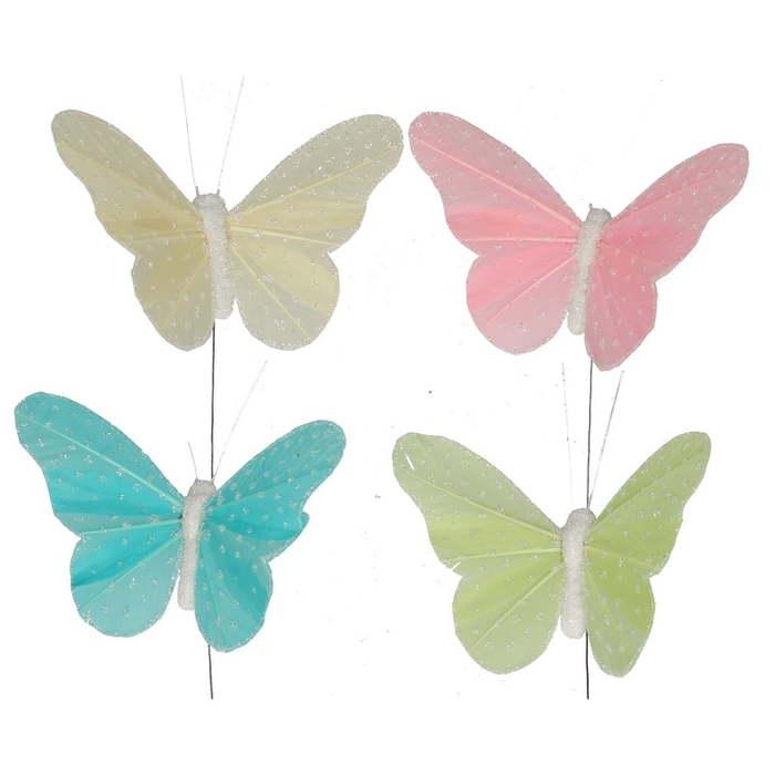 <h4>Christmas Butterfly glitter/wire10cm ass</h4>