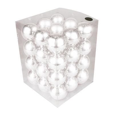<h4>Boules de nöel en tube 57mm blanc brillant 36 pcs.</h4>