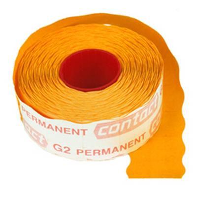 <h4>Étiquettes à prix Contact permanent 25x16mm orange</h4>