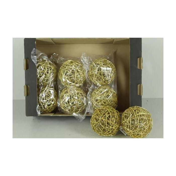 <h4>Bruce Ball 15cm Gold Glit(2pc)</h4>