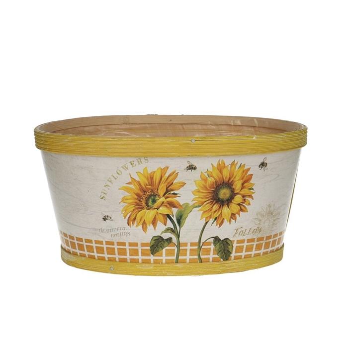 <h4>Opruiming Sunflower bak ovaal 22/18*11cm</h4>