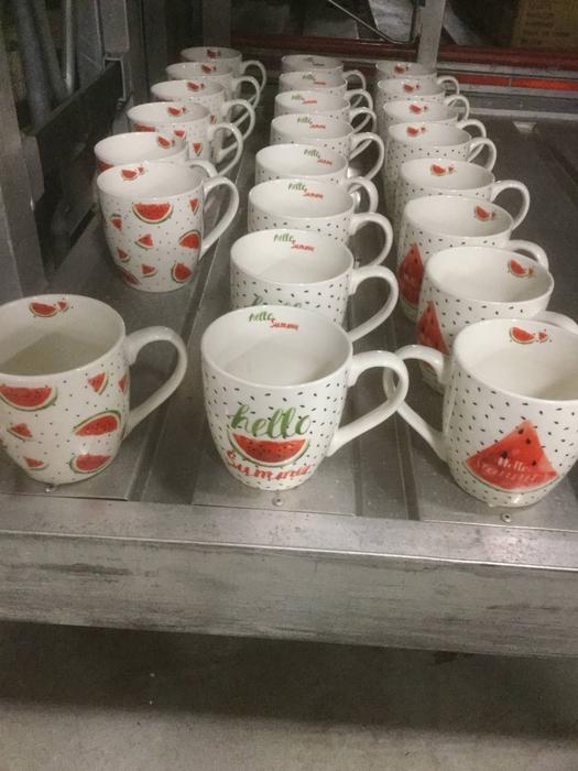 <h4>Jumbo mug Melonia, 3 ass., 400 ml, Dishwasher safe, Pink, Materialmix mixed materials rose</h4>