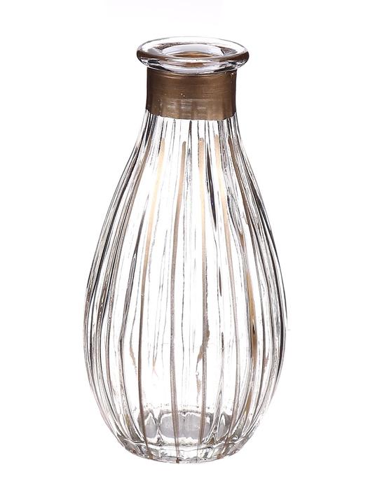 <h4>DF662806800 - Bottle Carola1 d7xh14 clear/gold</h4>