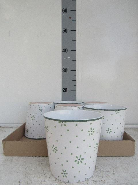 <h4>Ceramic pots 15cm green</h4>