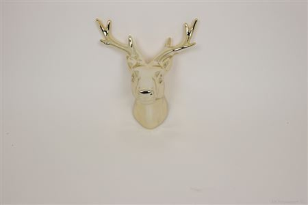 <h4>DEER HEAD CERAVIA DECO CERAMIC L23.0XW20.0XH15.0 GOLD 861806056</h4>