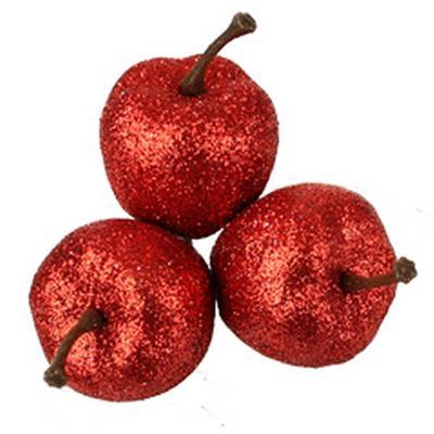 <h4>Scintillement pommes 3x40mm sur tige 50cm rouge</h4>
