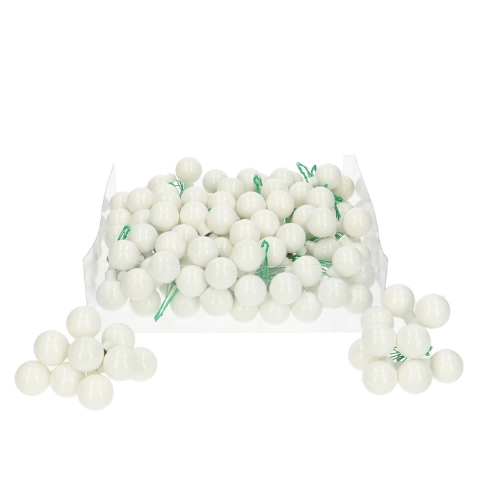 <h4>Christmas bauble Ball/wire 25mm pearl x144</h4>
