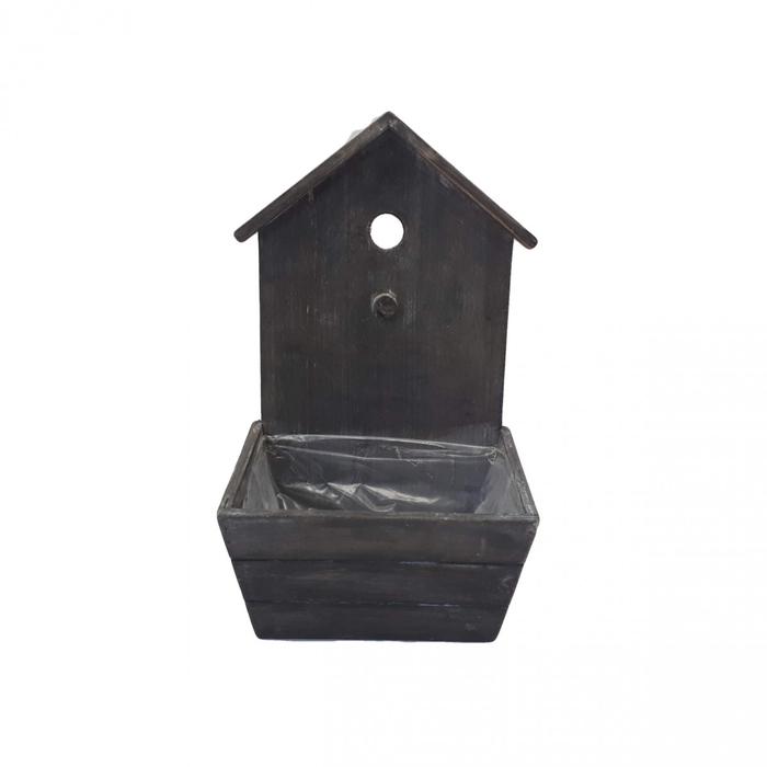 <h4>Hout Planter vogelhuis d20*33cm</h4>