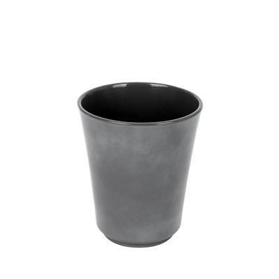 <h4>Pot Atlanta céramique Ø13xH15cm gris brillant</h4>