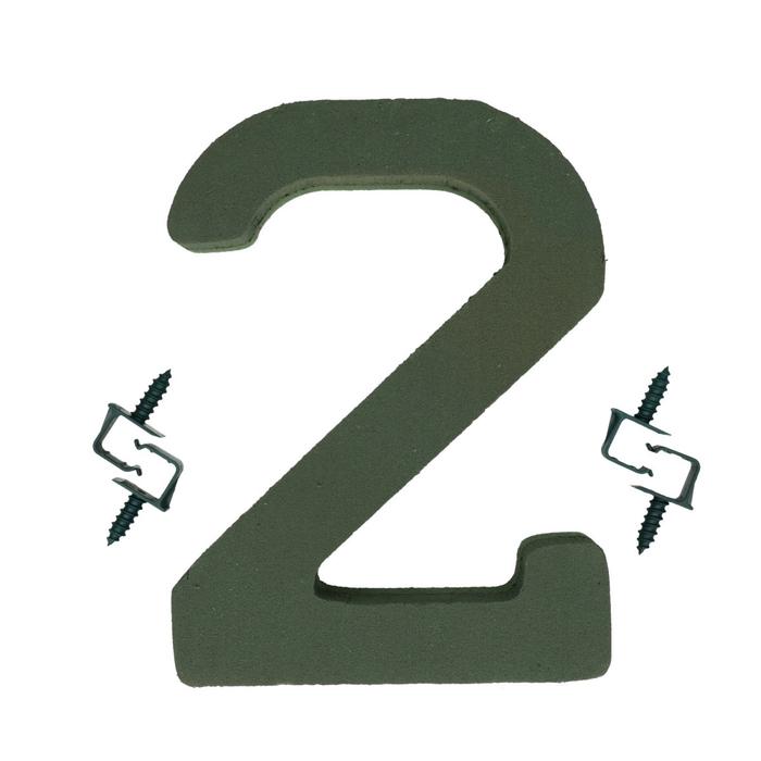 <h4>Steekschuim Basic Cijfer 2 27cm</h4>