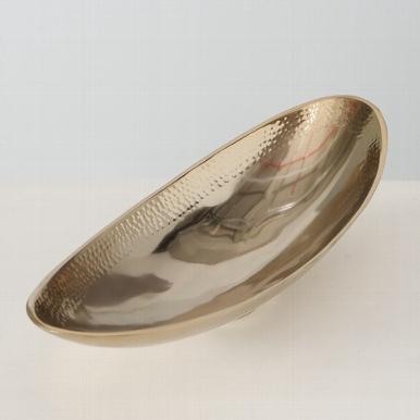 <h4>Bowl Yasomi, Decoration, H 10,00 cm, Aluminium, Champagne aluminium champagne</h4>