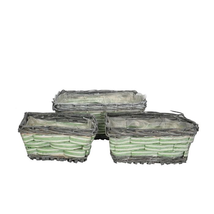 <h4>Baskets Anne tray rect.S/3 30*20*13cm</h4>