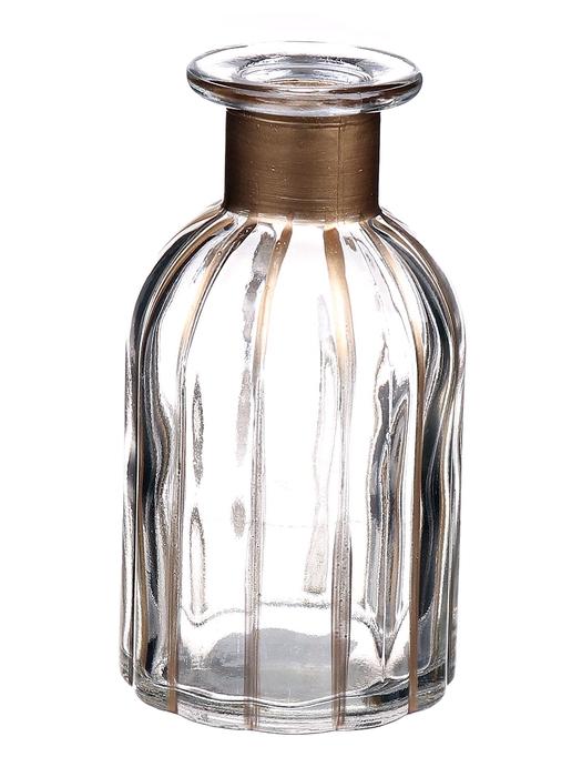 <h4>DF662806600 - Bottle Carola d7.5xh14 clear/gold</h4>