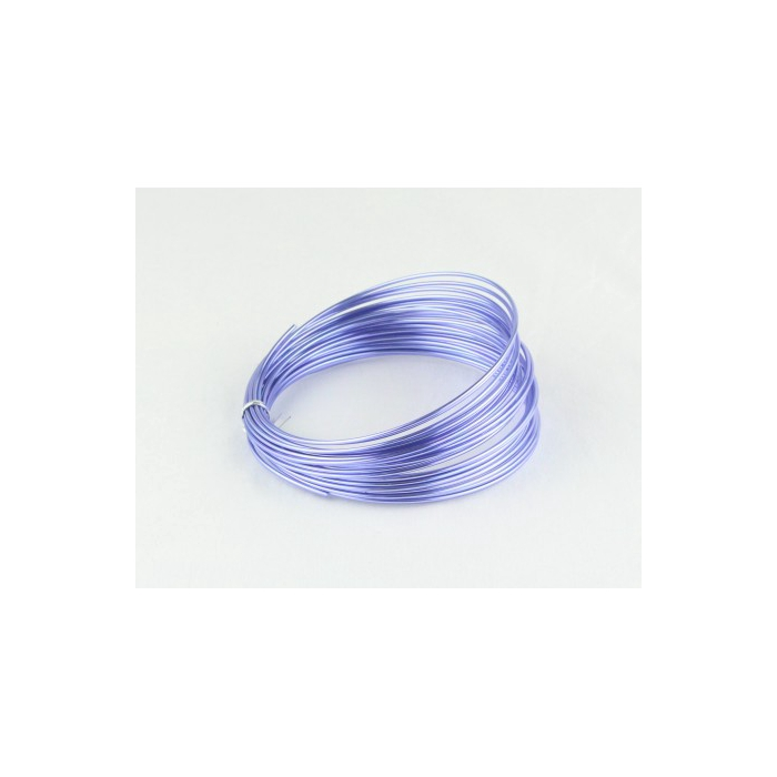 <h4>ALUMINIUM WIRE 2MM SOFT LILAC 12M 100GR</h4>