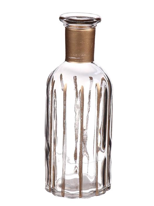<h4>DF662806700 - Bottle Carola d7.5xh19 clear/gold</h4>