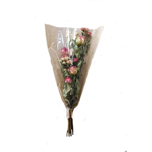 Dried Rosa tros Red Yellow Orange Bouquet