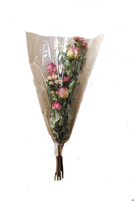 <h4>Dried Rosa tros Pink Cream Bouquet</h4>