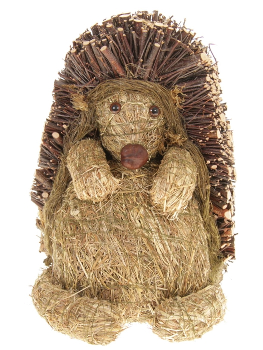 <h4>DF881554900 - Hedgehog wood+straw h38cm</h4>