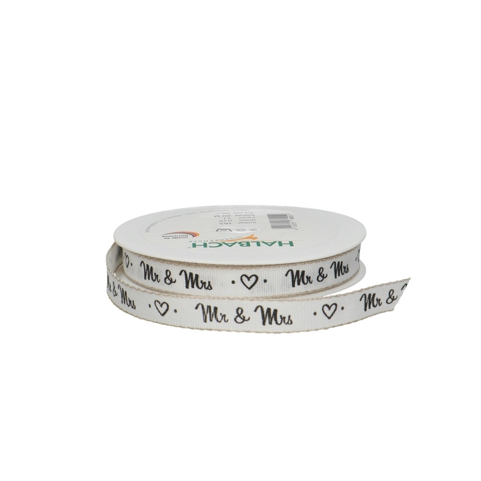 <h4>Ribbon -Mr & Mrs- 15mm 20m</h4>