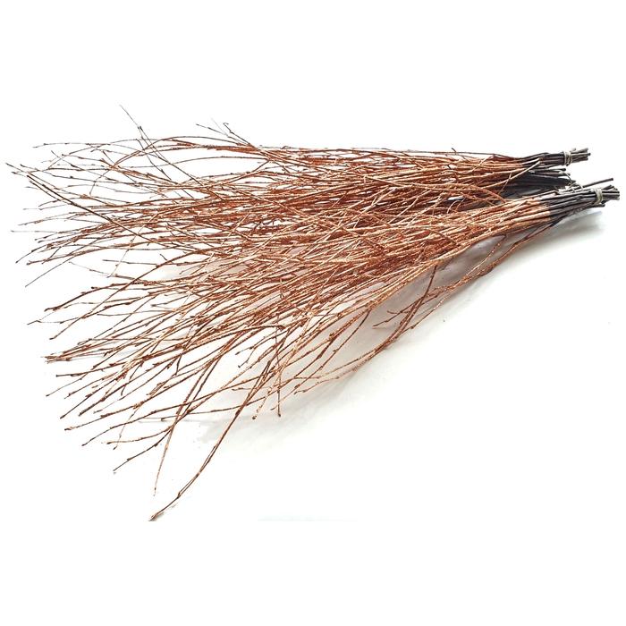 <h4>Birch 120cm 5stems per bunch Copper with Glitter</h4>