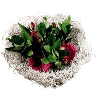 <h4>Support à bouquet salim neige ø25cm blanc</h4>