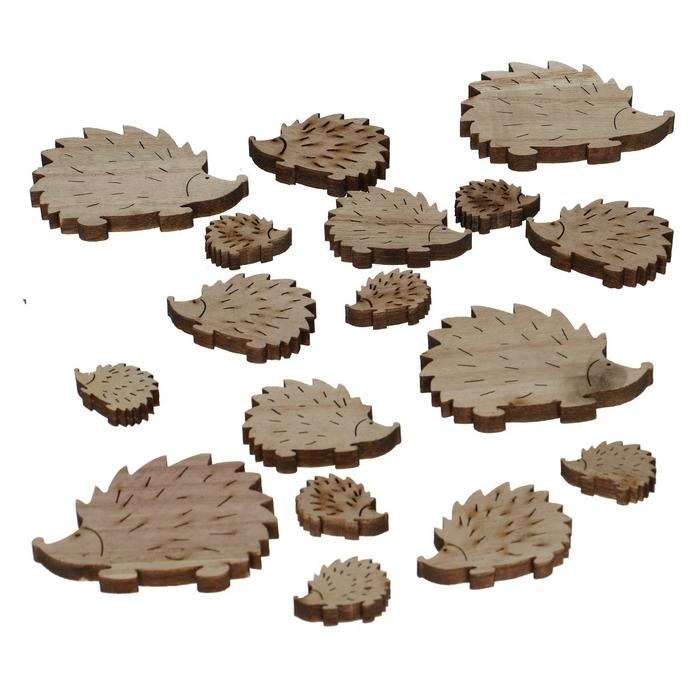 <h4>Autumn Wood hedgehog d3-7cm x18</h4>