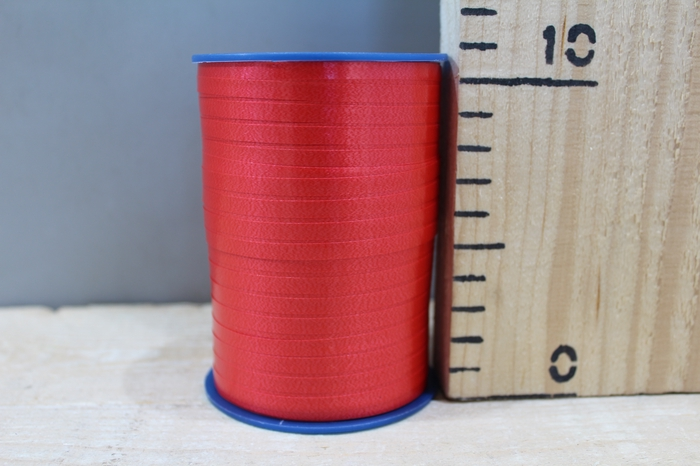 <h4>CURLY RIBBON 5MM X 500M L.RED 609</h4>