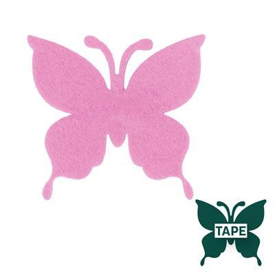<h4>Butterfly felt 8x8,5cm + tape pink</h4>