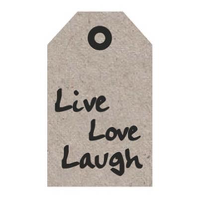 <h4>Bloemkaartjes ma -Live Love Laugh- pakje 20 stuks</h4>