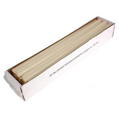 <h4>Kaars bloemensteek 14x380mm  ivoor  - doos 30st</h4>