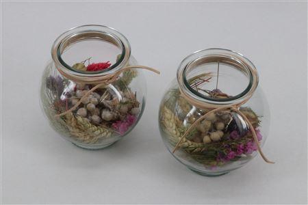 <h4>Arr. Driedflowers Glass Venetie</h4>