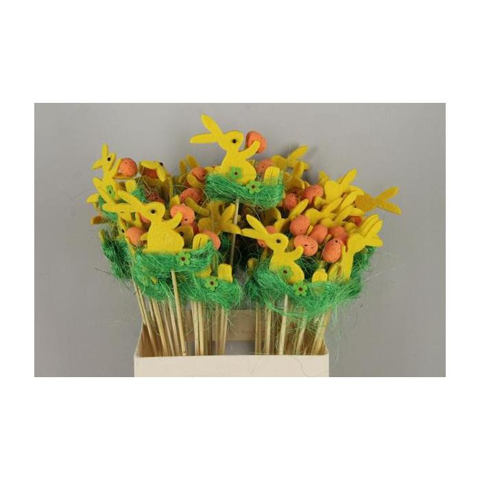 <h4>Stick Rabbit Felt-grass Yellow</h4>