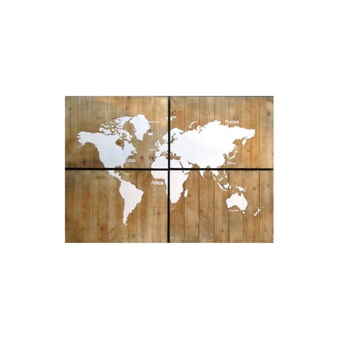 <h4>Map World Wood 4pcs 180x120cm</h4>