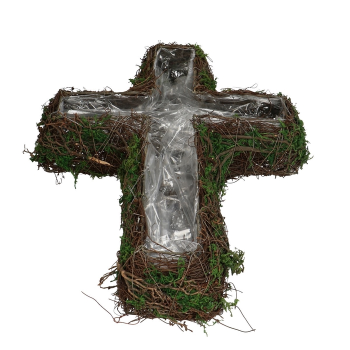 <h4>All Saints Salim plant.cross+moss 30*40cm</h4>