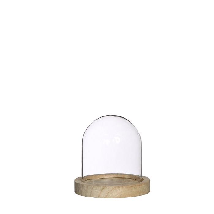 <h4>Glass Cloche+wood d10*10cm</h4>