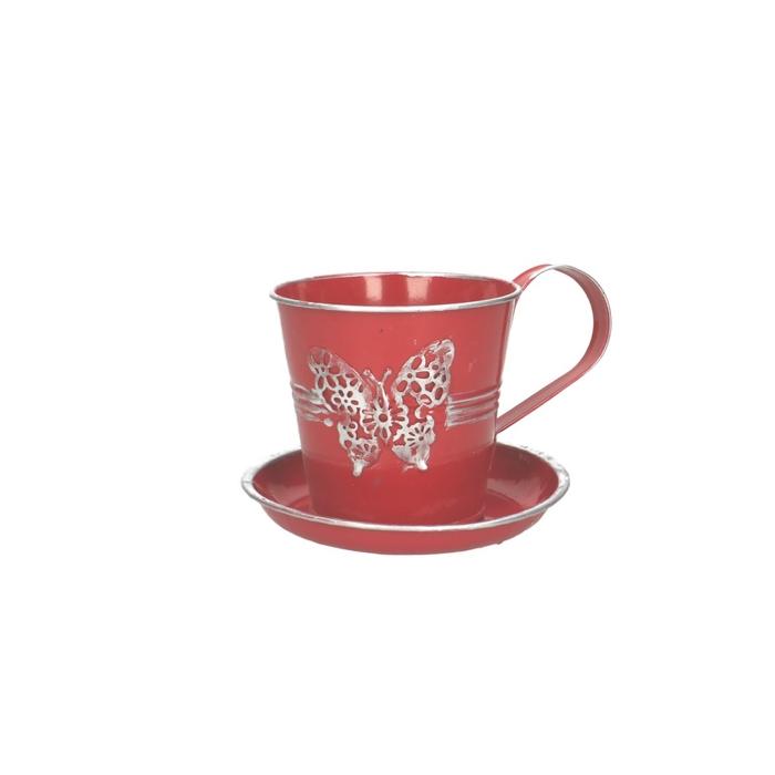 <h4>Zinc Cup+saucer Butterfly d10*09cm</h4>