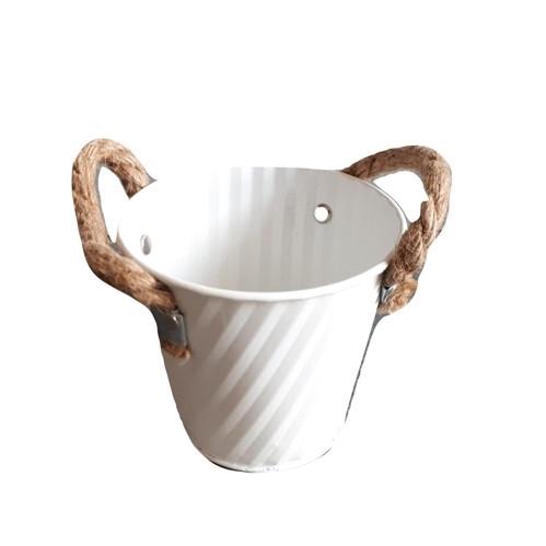 <h4>Zinc Pot stripe d11*10cm *</h4>