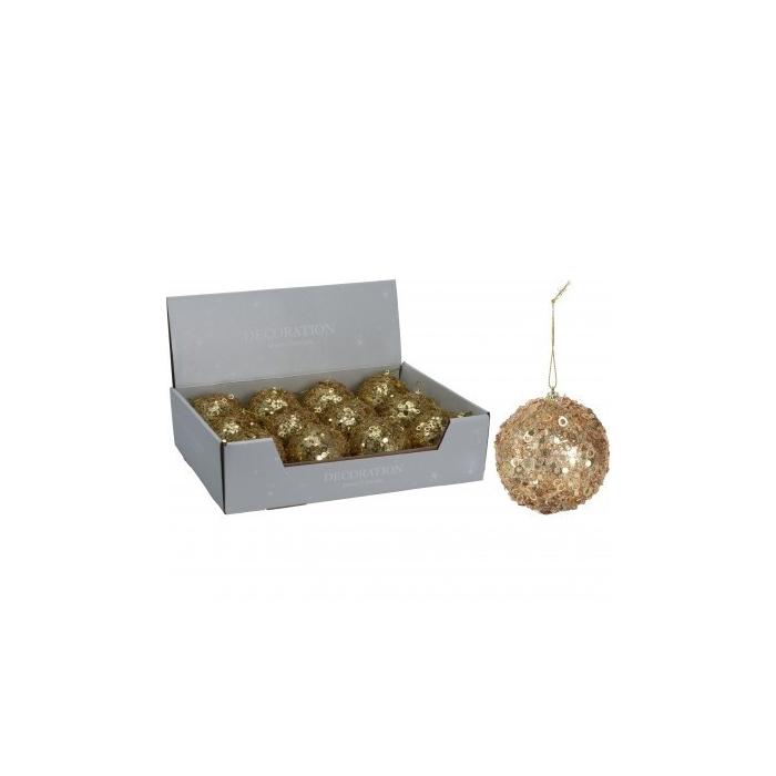 <h4>Christmas bauble Bal deco glitter 80mm</h4>