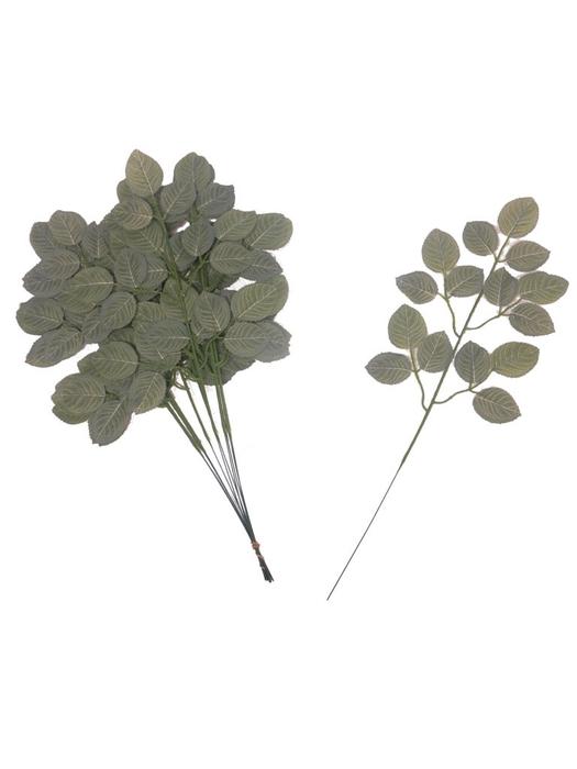 <h4>SILK GAULTHERIA LEAVES SPRAY (12PCS/PB) GREEN 55CM 31875-1</h4>